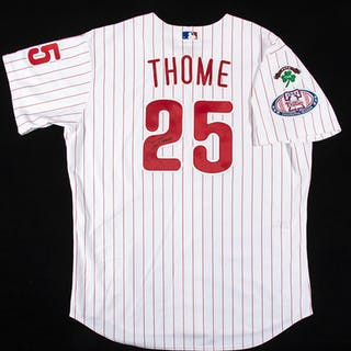 2004 Jim Thome autographed Philadelphia Phillies professional model home jersey