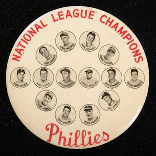 "1950 Philadelphia Phillies ""National League Champions"" souvenir pin"