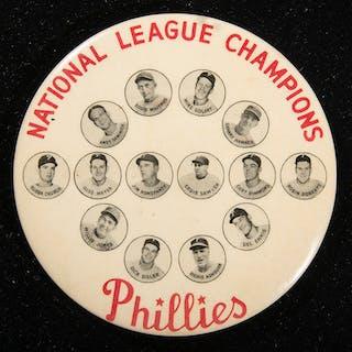 "1950 Philadelphia Phillies ""National League Champions"" souvenir pin"