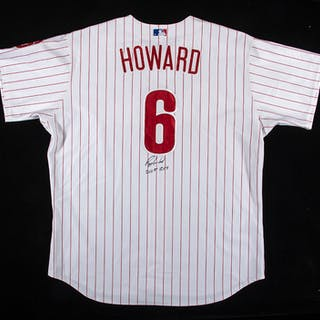 "2006 Ryan Howard autographed and ""game used"" inscribed..."