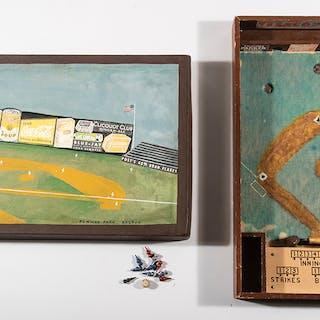 Fenway Park folk art baseball board game