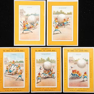 H804-2B Large Vertical Brownies trade cards complete set c.1880s