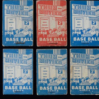 """1937 Goudey """"Thum-Movies"""" complete set (13)"""