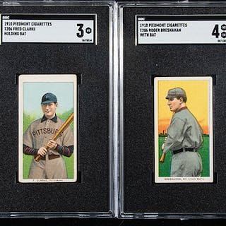 Lot of (4) 1909-11 T206 Hall of Famer cards