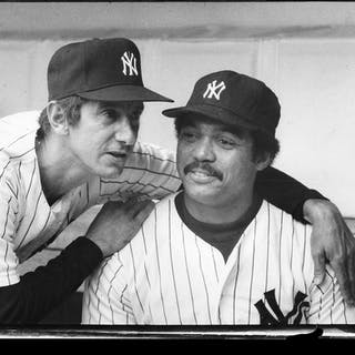 Reggie Jackson and Billy Martin photograph by Requena c.1977