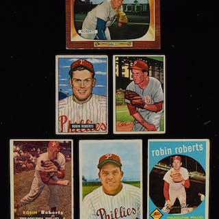 Lot Of 25 Robin Roberts Baseball Cards From 1951 1966 GD EX MT Current Sales Barnebys