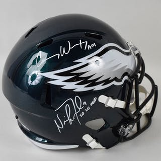 dfb4deb4f Carson Wentz   Nick Foles dual-signed Philadelphia Eagles... – Current  sales – Barnebys.com
