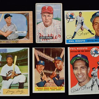 Lot Of 20 HOFers Baseball Cards From 1951 1958 Current Sales Barnebys