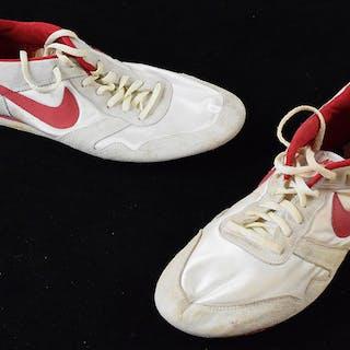 55ce2551bd7 Reggie White running/training shoes c.1980s (EX) Vintage.