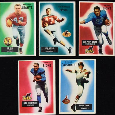 Lot of (37) 1955 Bowman Football cards (FR/GD-EX)