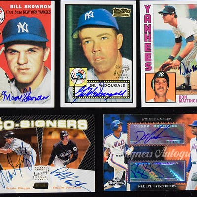 Lot of (23) signed Topps insert cards (NM-NM/MT)