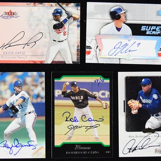 3edeb906f73 Lot of (41) signed insert cards including some stars and.