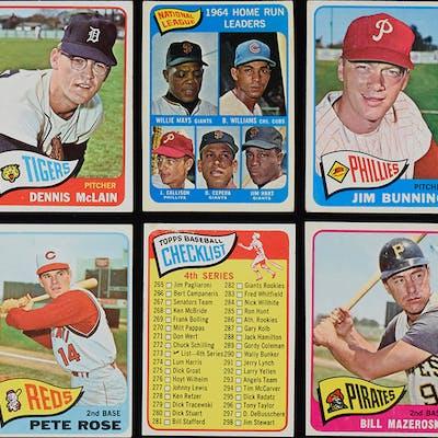 Lot of (100) 1965 Topps Baseball cards including stars and HOFers (PR/FR-EX)