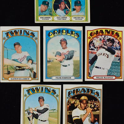 Lot of (656) 1972 Topps Baseball cards including stars and HOFers (PR-EX/MT)