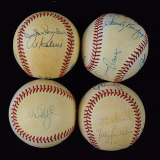 Lot of (8) single and multi-signed baseballs including HOFers (VG/EX-NM)