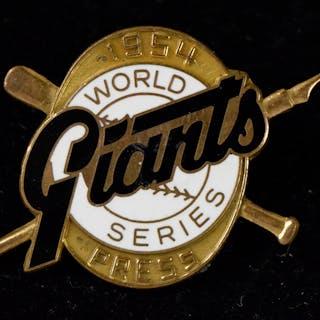New York Giants 1954 World Series press pin (EX/MT).