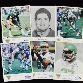 Lot of (305) Philadelphia Eagles signed photographs (NM overall)