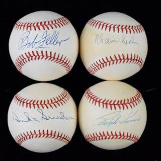 Lot of (6) HOFers signed baseballs (VG/EX-NM)