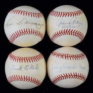 Lot of (9) signed baseballs (VG/EX-NM)