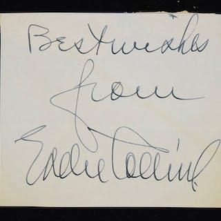 Eddie Collins autograph (Sig