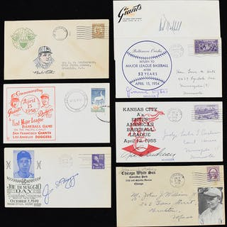 Nice lot of (12) vinage baseball related envelopes/covers...