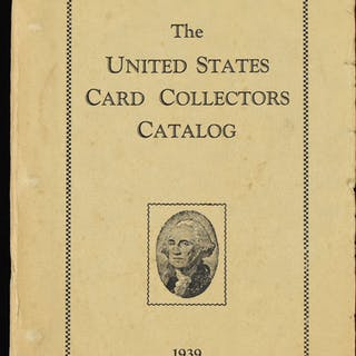 "1939 ""United States Card Collectors Catalog"" by J.R"