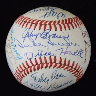 Brooklyn Dodgers ball signed by (27) incl