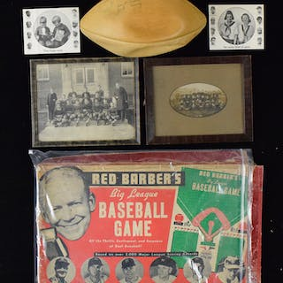 Nice lot of 1900s-60s mixed sports collectibles and...