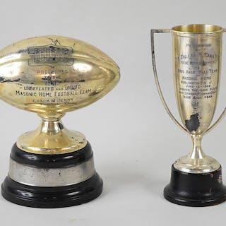 "1929 Baseball and 1934 Football (figural) ""Masonic Home""..."
