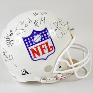 Quarterbacks autographed NFL logo ProLine helmet with...