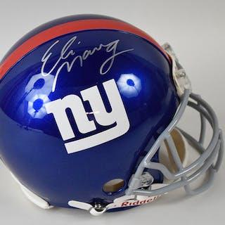 Eli Manning signed New York Giants ProLine helmet...