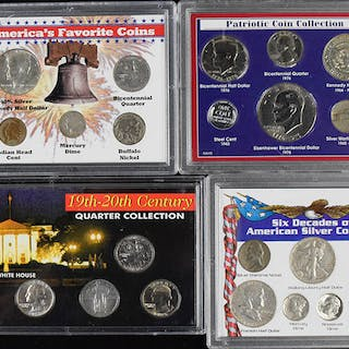 Lot of (4) coin sets with dates ranging from 1901-1980 (VG-NM/MT)