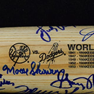 "Dodgers and Yankees multi-signed ""Greatest World Series..."
