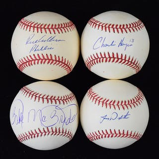 Lot of (15) Philadelphia Phillies signed baseballs including Ashburn (EX-NM/MT)