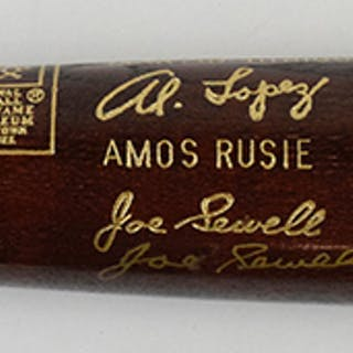 Ernie Banks & Joe Sewell dual-signed limited edition 1977...