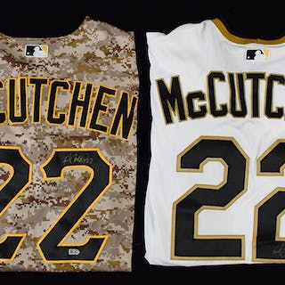 Lot of (3) Andrew McCutchen signed Pittsburgh Pirates...