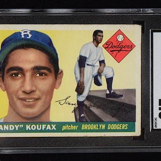 1955 Topps #123 Sandy Koufax rookie card graded SGC 1.5 (FR).