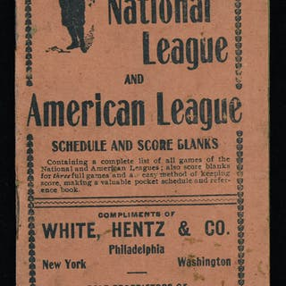 1903 National League and American League schedule booklet (EX)