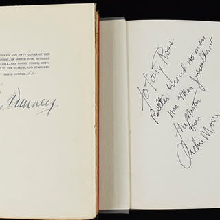 Gene Tunney and Archie Moore signed hardcover books (VG/EX-EX/MT)