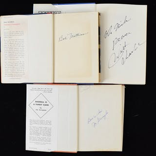 Lot of (12) signed sports books including Chamberlain and other stars (VG-NM)