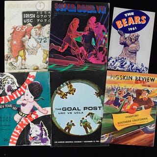 Lot of (22) football programs & publications from...