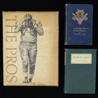 """Vintage football lot including 1891 """"American Football"""" by Camp (VG-NM)"""