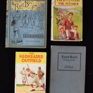 Lot of (18) vintage sports books from 1884-1947 (GD-EX/MT)