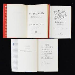 Lot of (13) signed baseball books including Duke Snider (VG/EX-NM/MT)