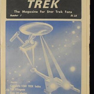 "Rarely seen ""Trek"" Star Trek magazine issue number 1"