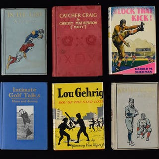 Lot of (18) vintage sports books from 1889-1949 (GD-EX/MT)