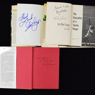 Mixed sports lot of (10) stars and HOFers signed books (VG-NM/MT)