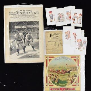 Vintage sports memorabilia lot