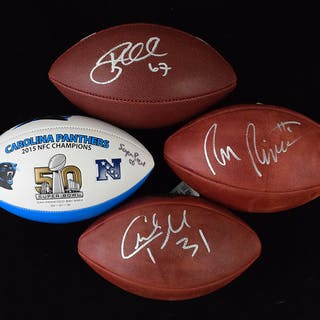 Lot of (20) signed footballs (NM overall)