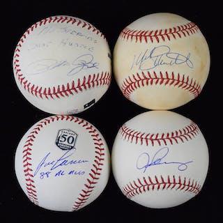 Lot of (5) former MVPs signed baseballs (EX-NM/MT)
